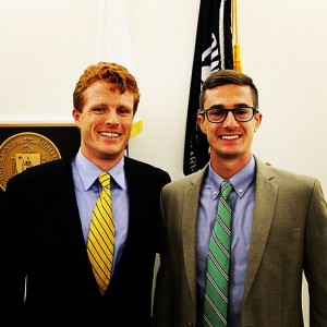 Brendan G. Corrigan, right, pictured inside the United States Capitol with Congressman Joe Kennedy (D-MA).